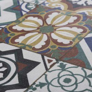 Ceramic Arabesque Oilcloth Tablecloth (4)