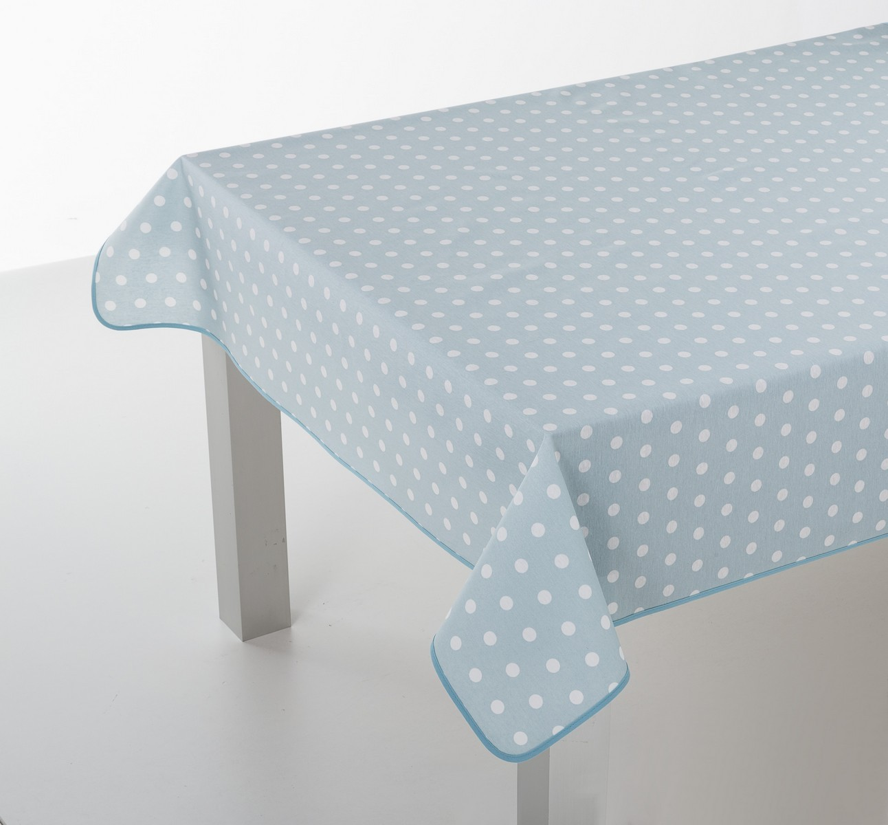 DUCK EGG DOTS OILCLOTH TABLECLOTH (2) ...