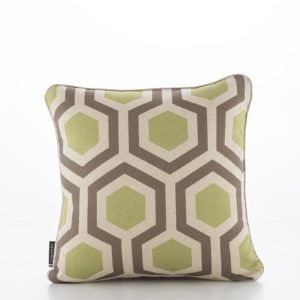 Geometric Hexagon Beechnut Walnut Cushion Cover (1)