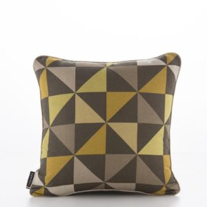 Geometric Pinwheels Safari Shitake Cushion Cover (1)
