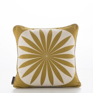 Hallon Yellow Mustard Moon Cushion Cover (1)