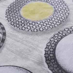 Retro Dishware Oilcloth Tablecloth Green (4)