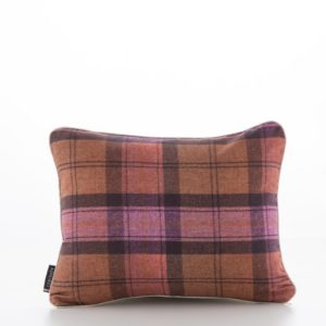 Tartan Purple Linen Cotton Cushion Cover (1)