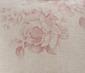 Funda Cojín French Vintage Grand Floral con Rosas Rojas