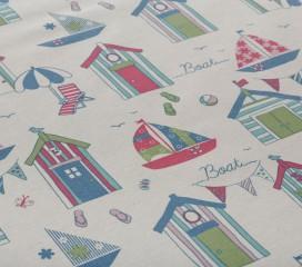 Beach Huts Tablecoth Oilcloth