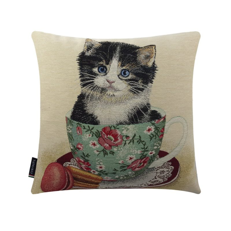 Cat Cup cushion Cover (1)