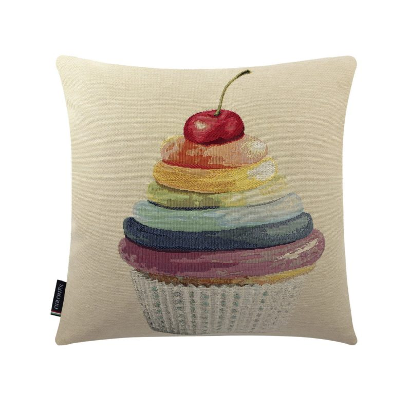 Cherry Colorful Cupcake Cushion Cover (1)