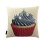 Pearls Blue Cupcake Cushion Cover (1)