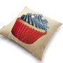 Pearls Blue Cupcake Cushion Cover (3)