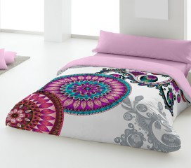 Purple Mandala Duvet Set Digitally Printed