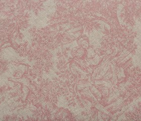 Mantel Antimanchas Resinado French Vintage Toile Rojo