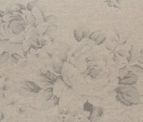 Mantel Antimanchas Resinado con Flores Grises