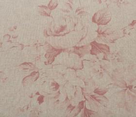 Mantel Antimanchas Resinado con Flores Rojas