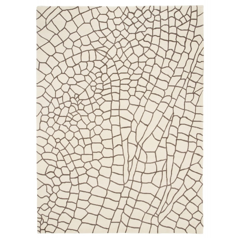 Hand Knotted Dragonfly Taupe Rug (1)