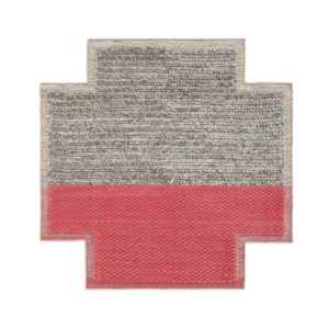 Mangas Space Square Plait Coral Rug (1)
