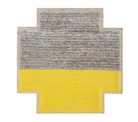 Alfombra Mangas Space Plait Square. 160 x 160 cm Amarillo (GAN)