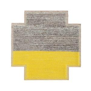 Mangas Space Square Plait Yellow Rug (1)