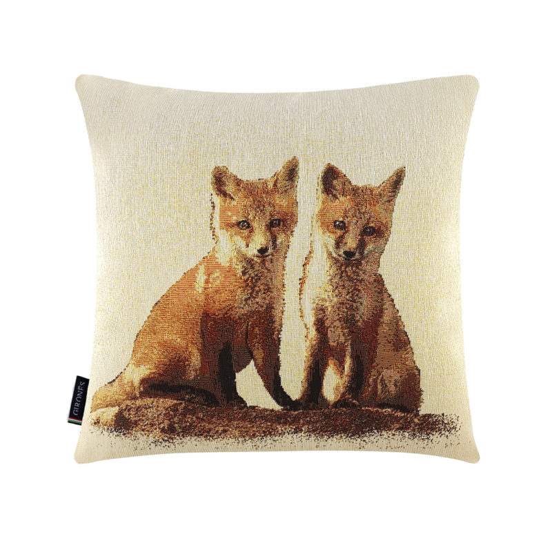 Twin Foxes Tapestry Cushion Cover (1)