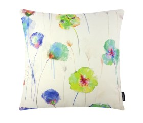 Poppies Style Blue Multi Cushion Cover