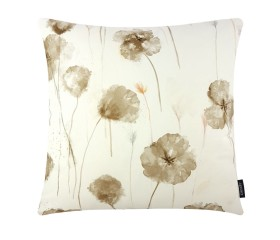 Poppies Style Brown Cushion Cover