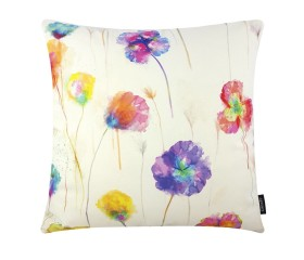 Poppies Style Multicoloured Cushion Cover