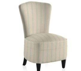 French Vintage Stripe Blue Bedroom Chair