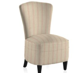 French Vintage Stripe Red Bedroom Chair
