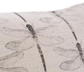 Dragon Fly Zen Natural Cushion Cover
