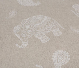 OILCLOTH TABLECLOTH INDIAN ELEPHANT