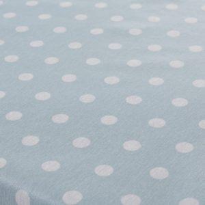 Mantel Antimanchas Resinado Azul Celeste con Puntos Blancos