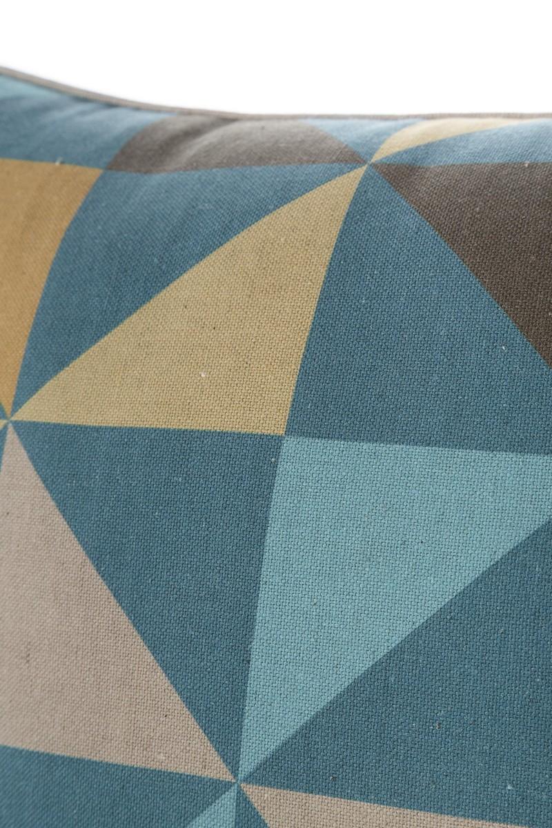 Geometric Pinwheels Multi Blue Cushion Cover