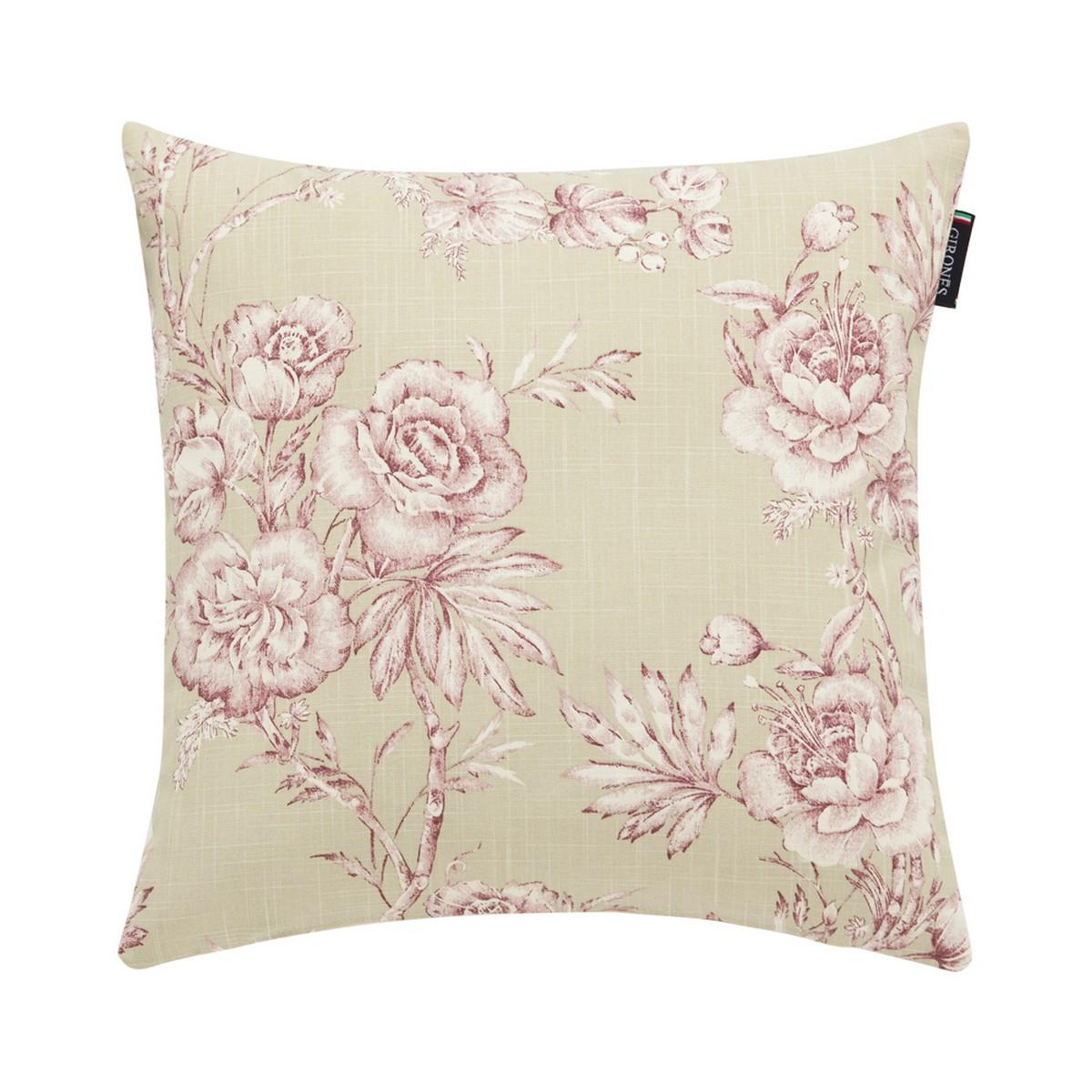 Rose flower beige pink cushion cover rose flower beige pink cushion cover mightylinksfo