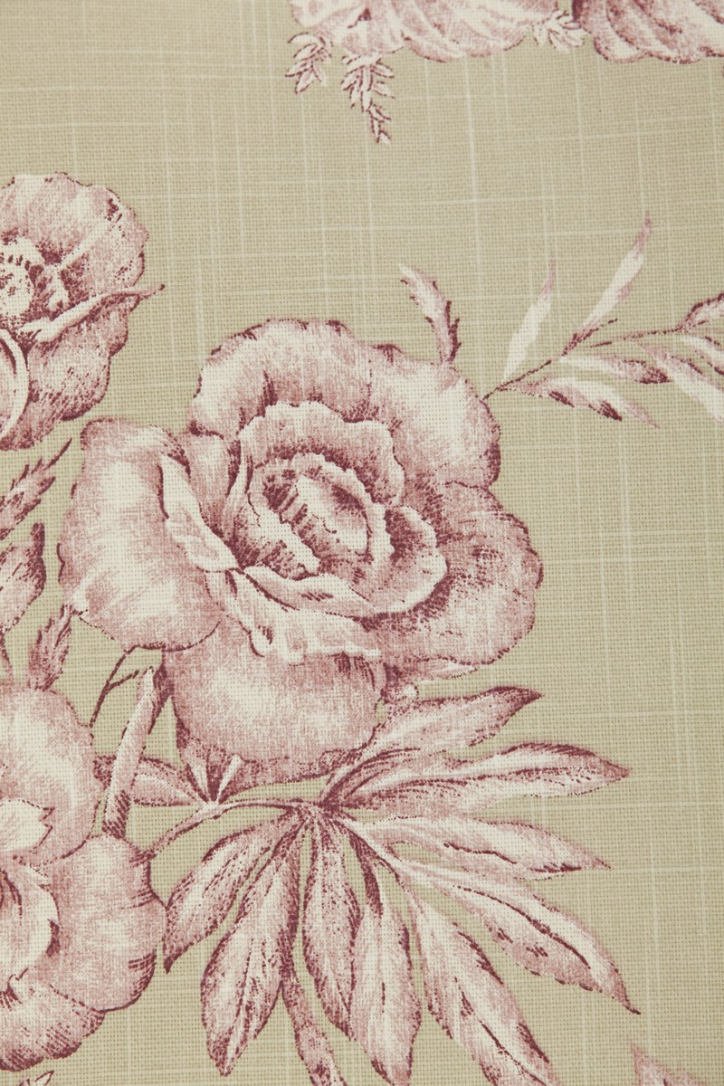 Rose Flower Beige Pink Cushion Cover