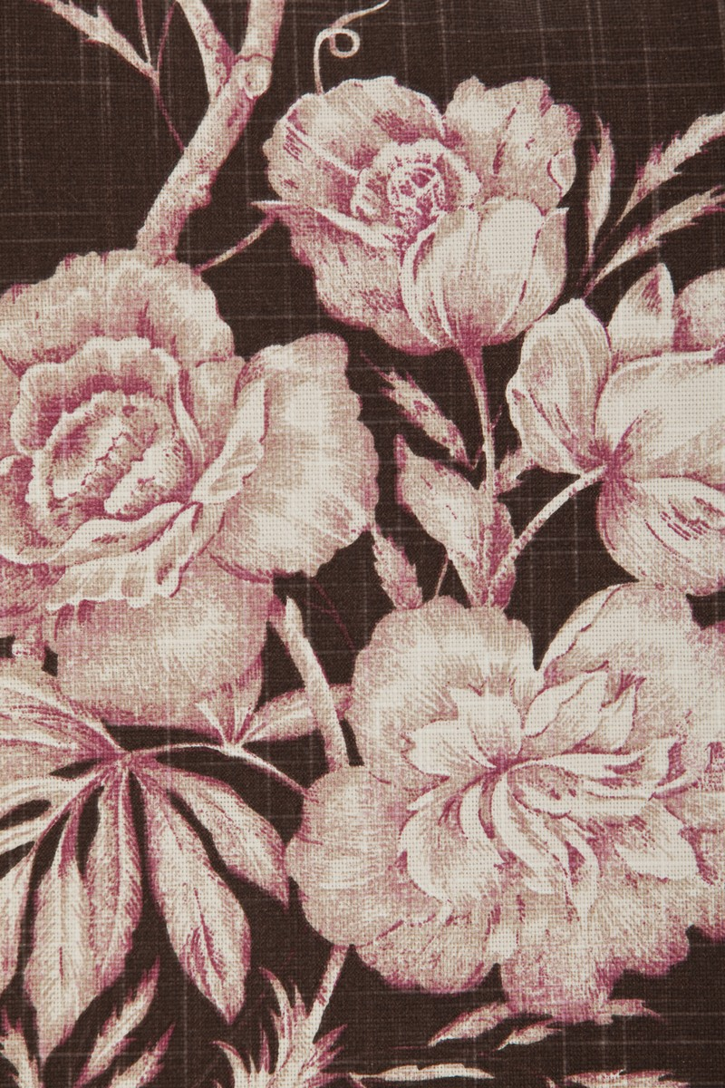 Rose Flower Brown Pink Cushion Cover
