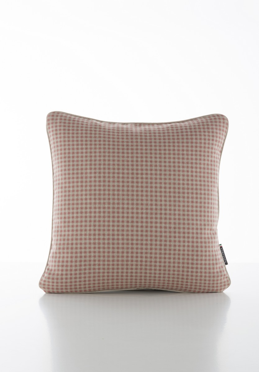 French Vintage Gingham Red Cushion Cover
