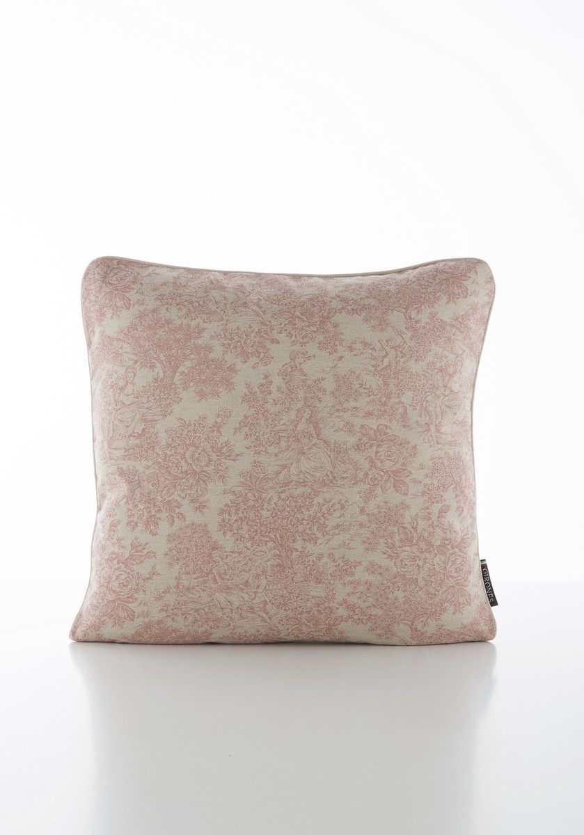 French Vintage Toile Red Cushion Cover