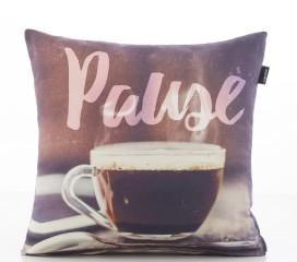 Funda Cojín Pause en Impresión Digital y 100% Algodón