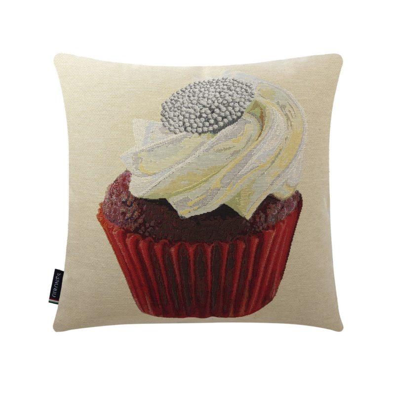 Creamy Flower Cupcake Cushion Cover (1)