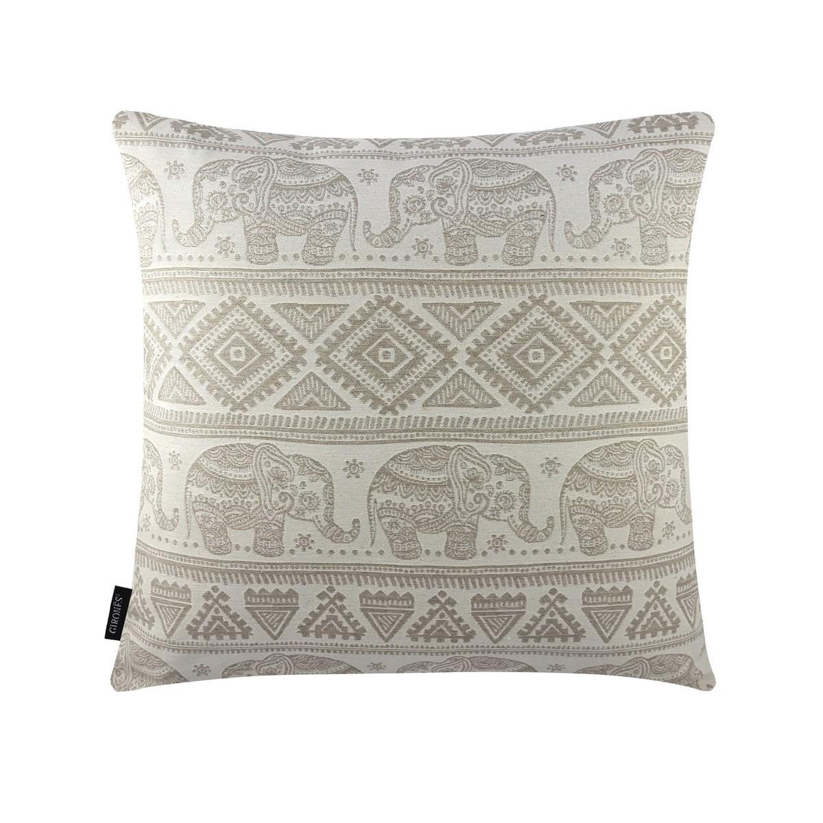 Carole Elephant Cream Color Cushion Cover