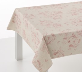 Grand Floral Red Oilcloth Tablecloth