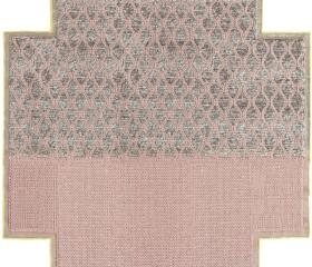 Alfombra Mangas Space Rhombus Square. 260 x 260 cm Rosa (GAN)