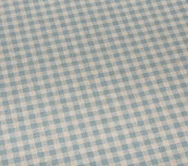Vintage Gingham Blue Oilcloth Tablecloth