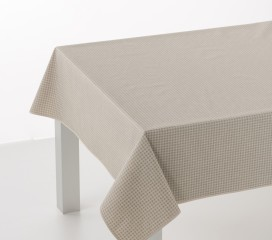 Vintage Gingham Grey Oilcloth Tablecloth
