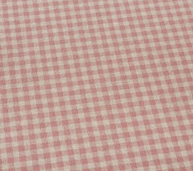 Vintage Gingham Red Oilcloth Tablecloth
