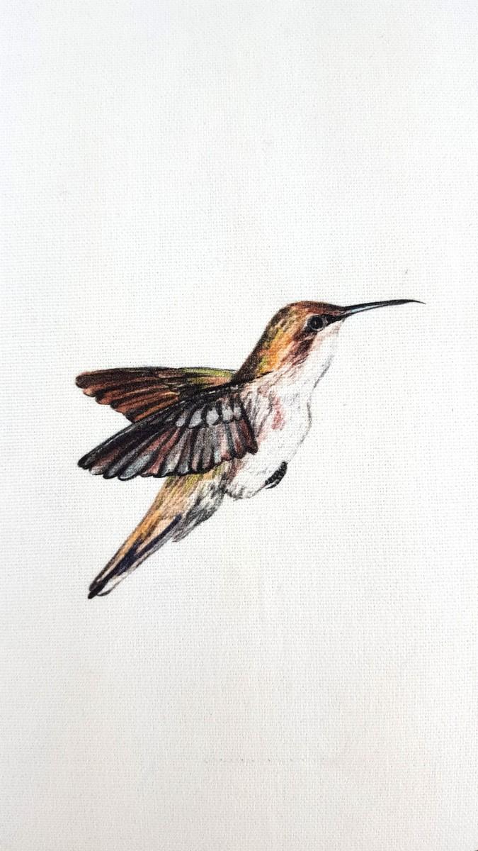 Hummingbirds Cream Cushion Cover