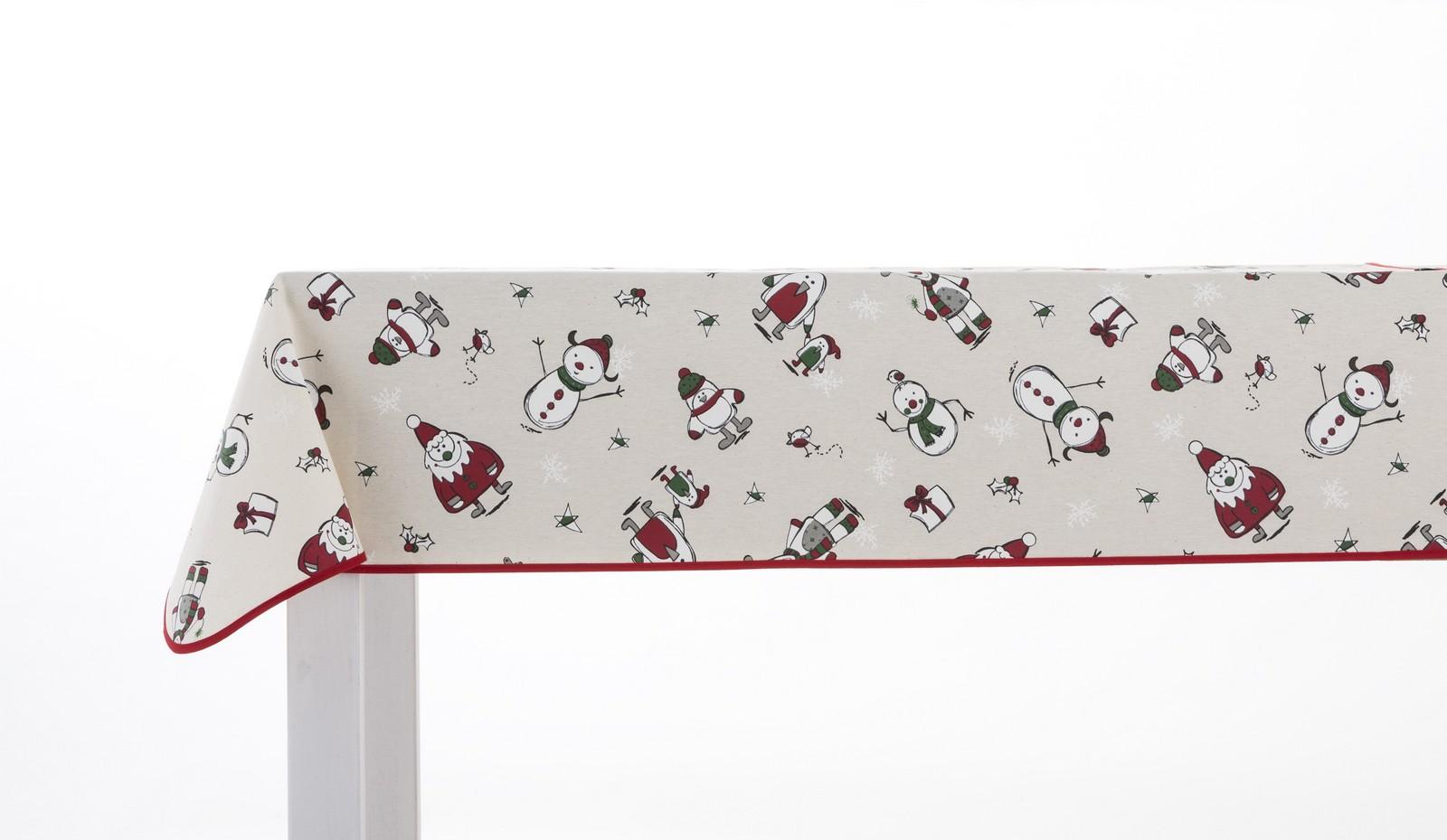Christmas Olaf Oilcloth Tablecloth 1