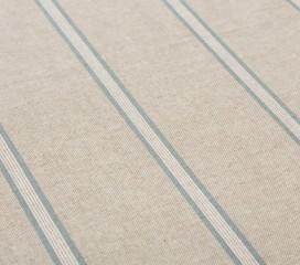 Vintage Stripe Blue Oilcloth Tablecloth