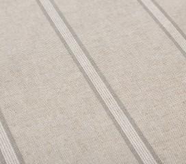 Vintage Stripe Grey Oilcloth Tablecloth
