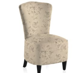 French Vintage Grand Floral Grey Bedroom Chair
