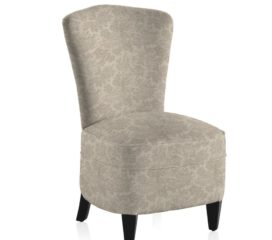 French Vintage Toile Grey Bedroom Chair